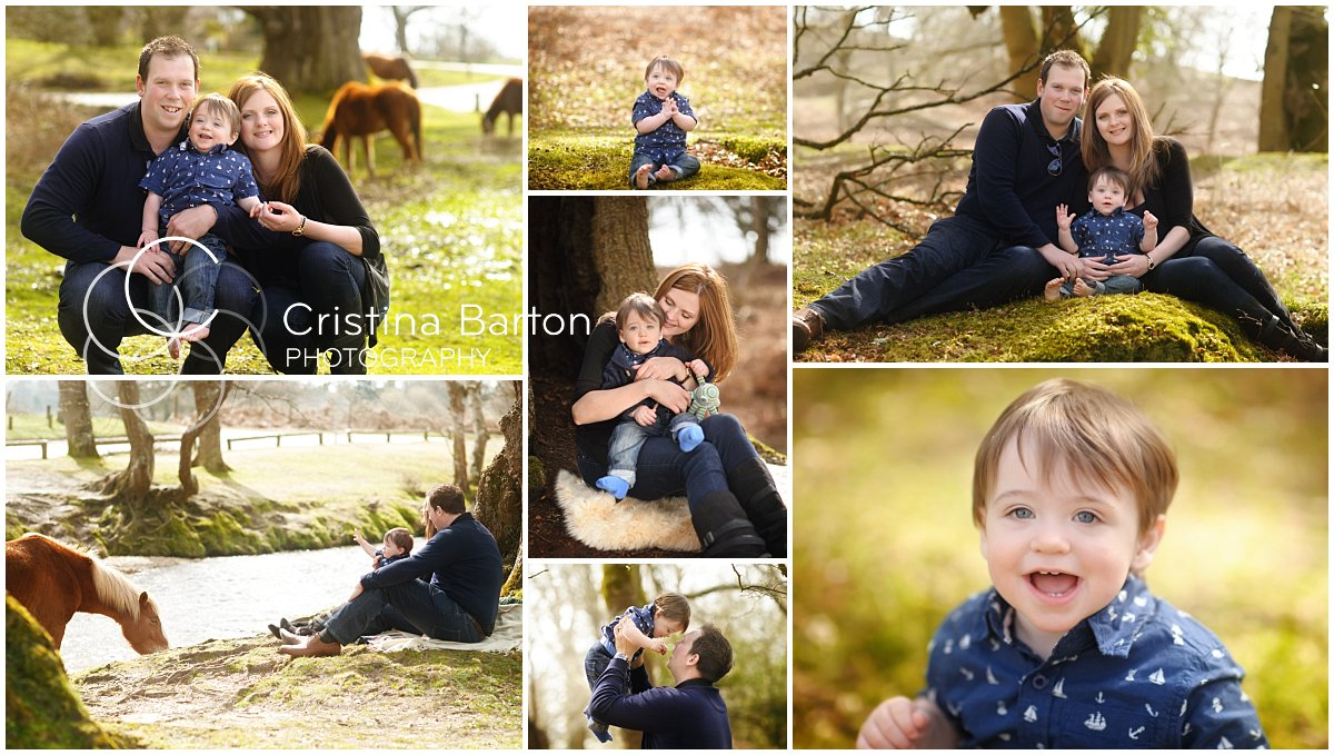 family photo shoot in the new forest with ponies