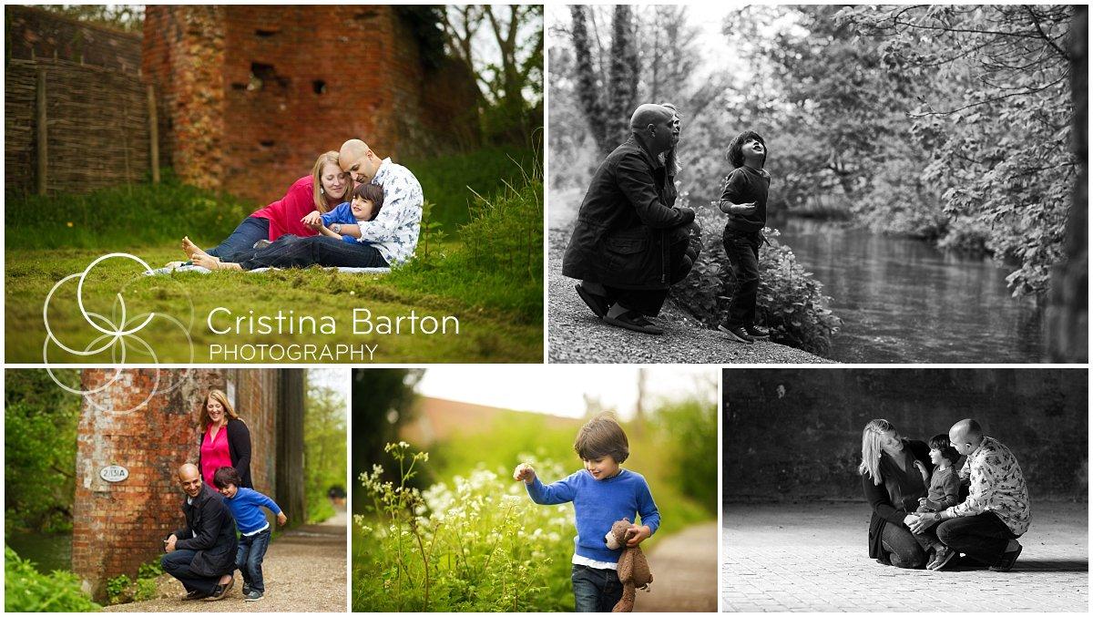 Family photo session at Basing House, near Basingstoke, Hampshire