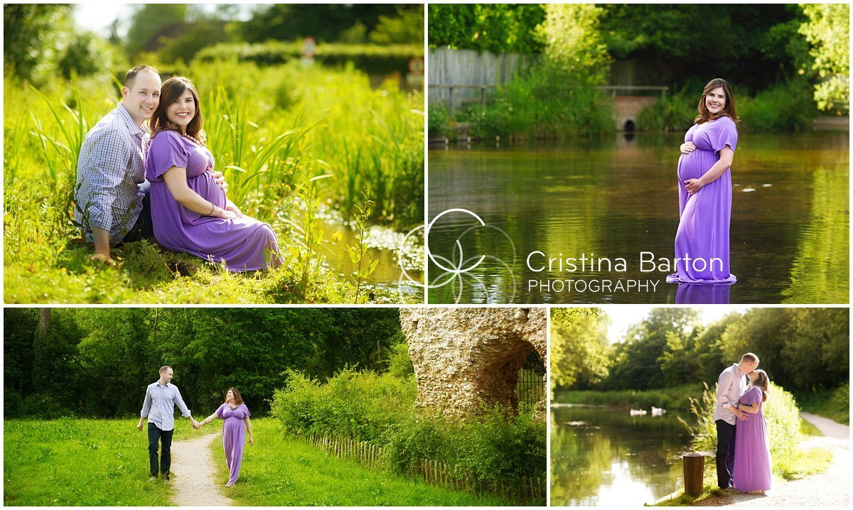 Maternity and couple photo session at Odiham Castle, Hampshire.