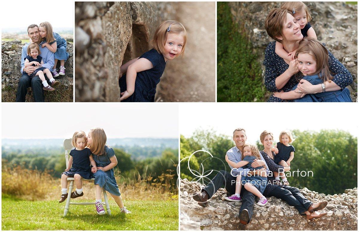 family portraits at Donnington Castle, Newbury