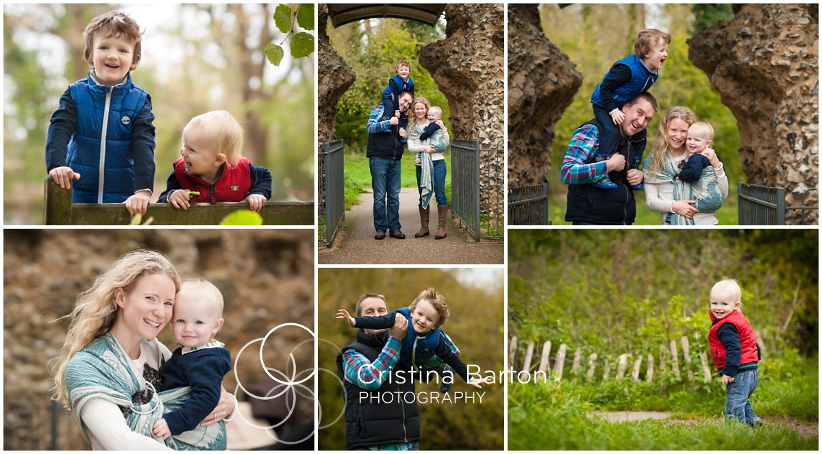 Family and children photo session at Odiham Castle, Hampshire