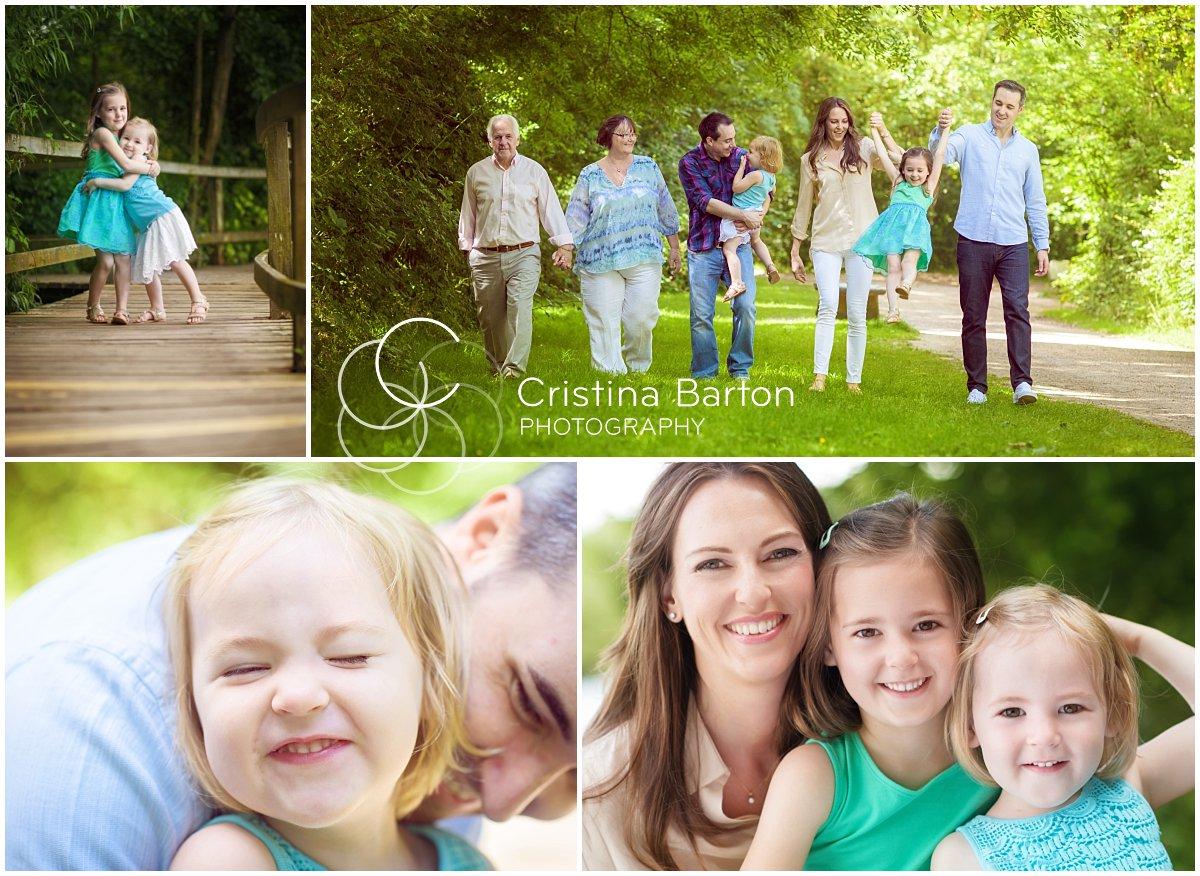 family photo shoot outdoors in Berkshire