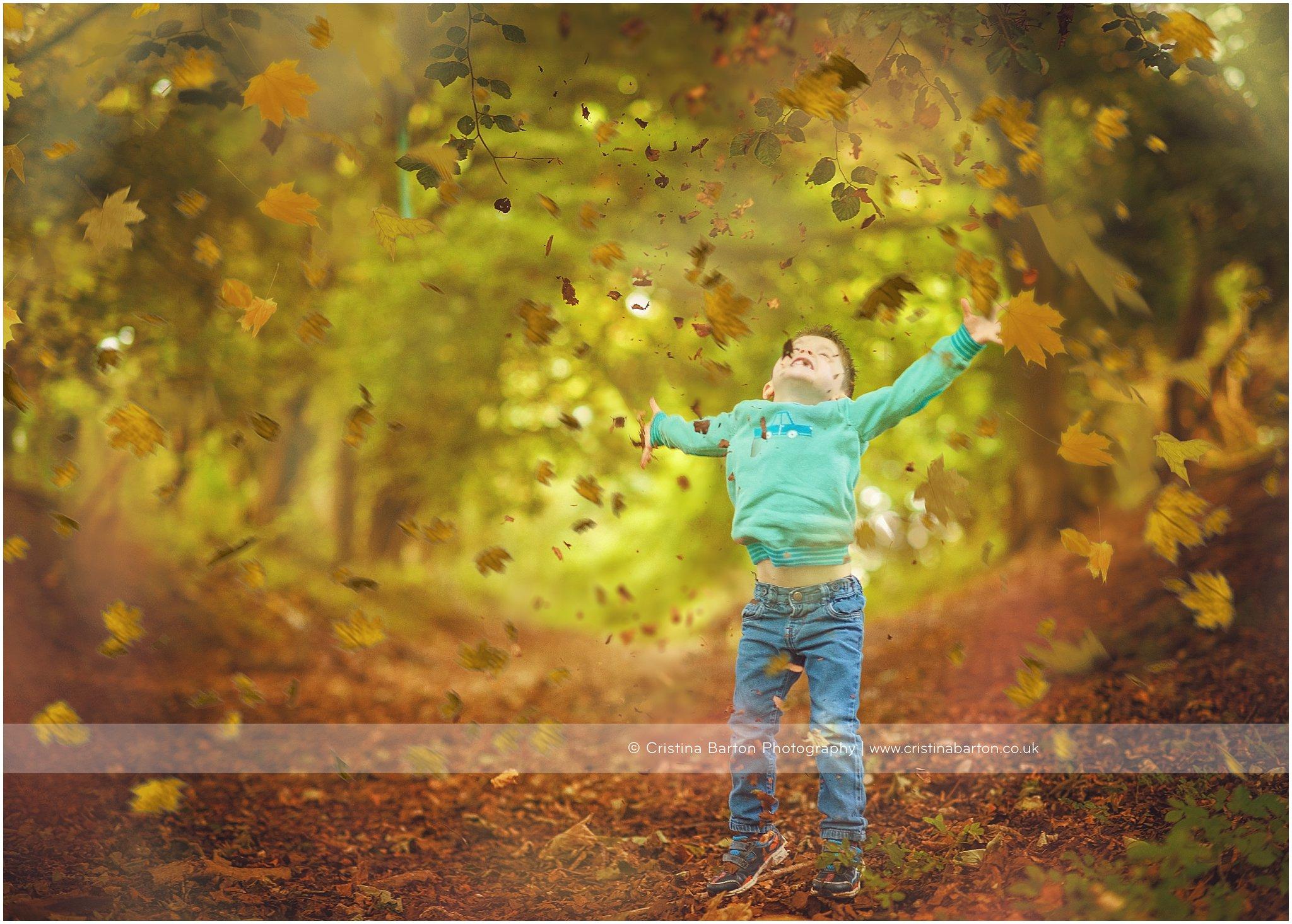 autumn photo shoot kids