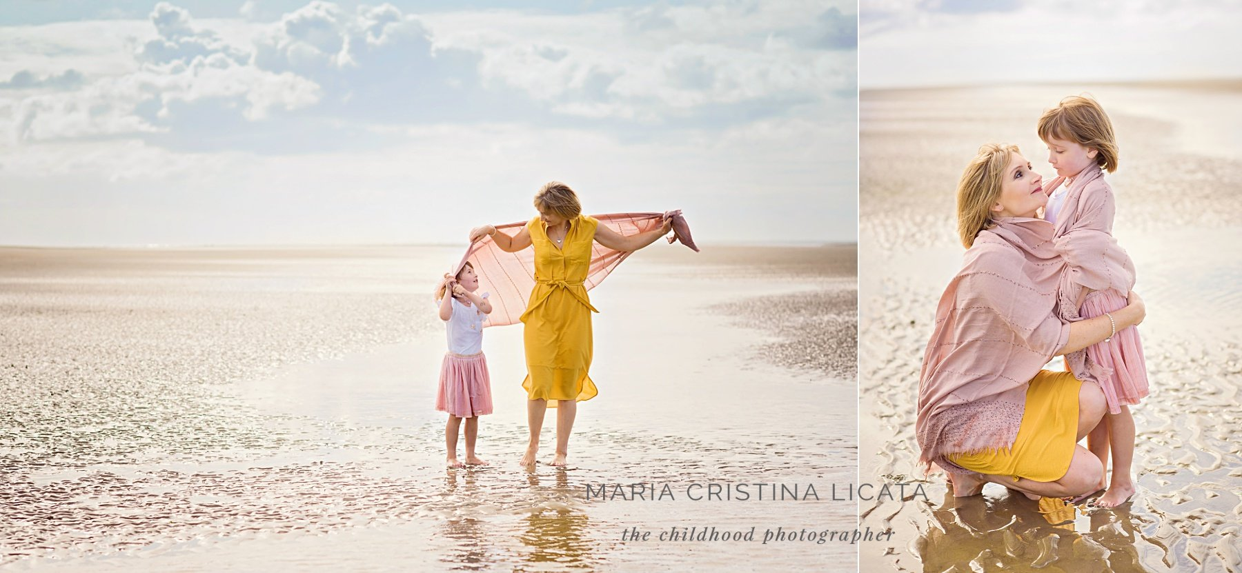 beach photo session family Hampshire